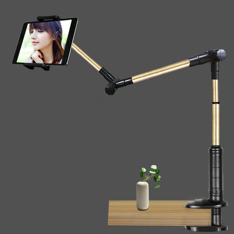 Folding Tablet PC Stand 360 Rotation Strong Holder Support 4-14 inch Tablet Lazy People Table/Bed Bracket for iPad iPhone Kindle 1