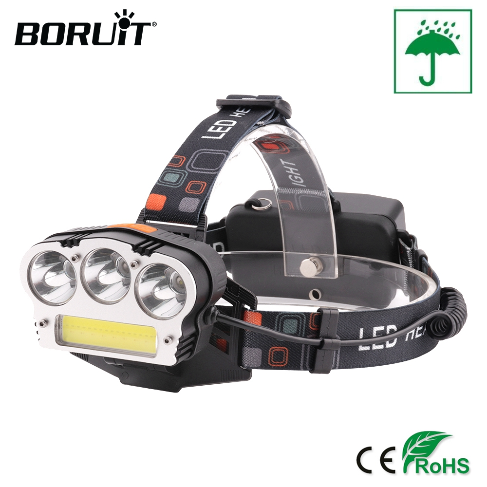 BORUiT XML-T6 COB LED Headlight Waterproof Red Light Hunting Headlamp 7-Mode Power Bank USB Charge Outdoor Fishing Light sitemap 58 xml
