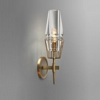 Nordic LED wand lampe Kupfer wohnzimmer loft beleuchtung schlafzimmer studie der wand lichter Neuheit home deco gang leuchten