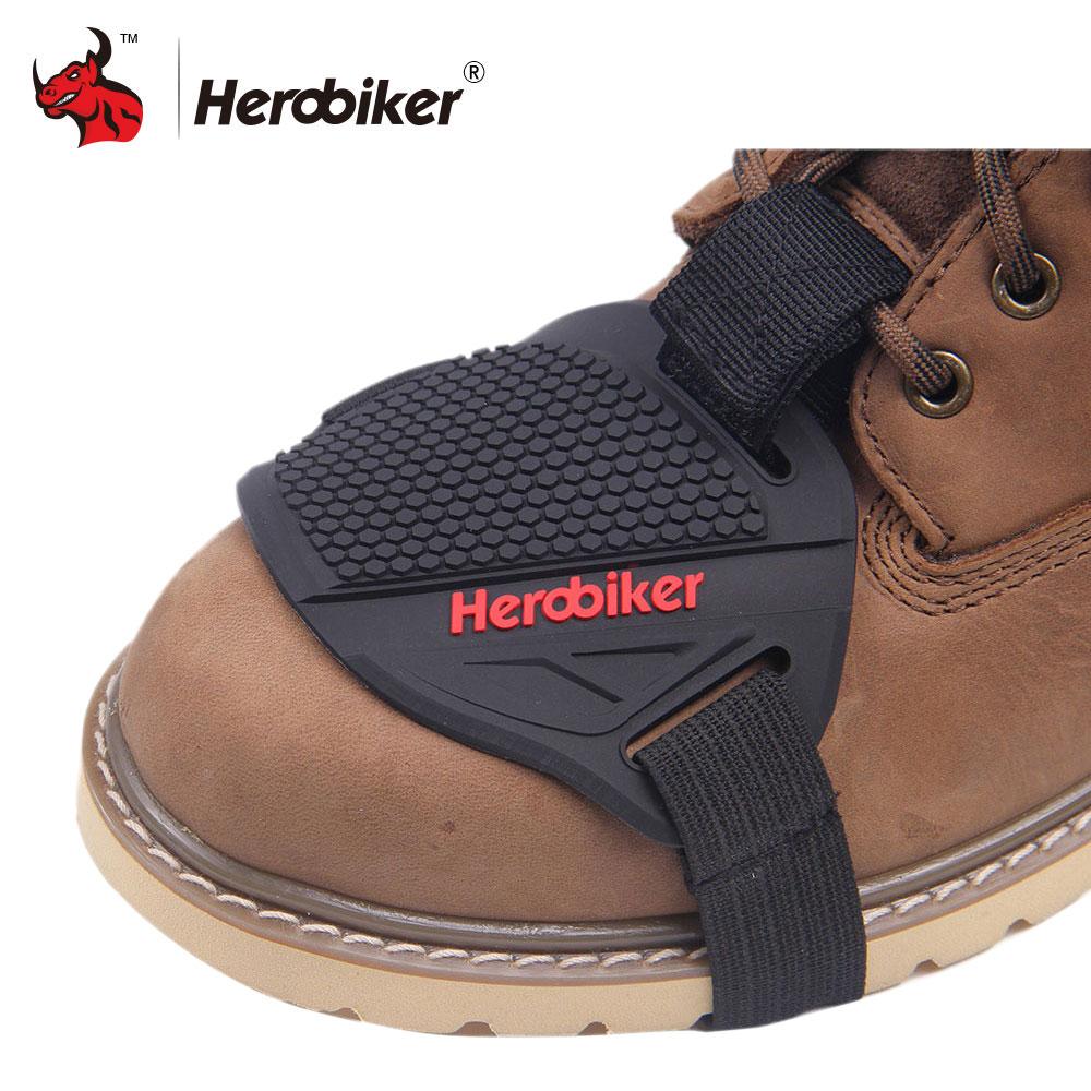 HEROBIKER Stronger di Gomma Del Motociclo Gear Shifter Scarpa Stivali Protector Maiusc Calzino Moto Boot Copertura di Protezione Gear