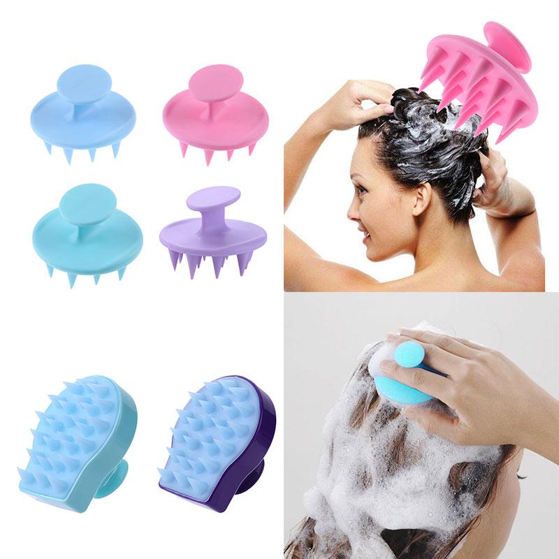 Silicone Shampoo Scalp Brush Massager Shower Body Washing Hair Massage Comb Spa Shower Brush Massage Relax