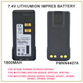 PMNN4407A MOTOTRBO IMPRES GP328D de IÕES de LÍTIO de 1800 mah Bateria Para Motorola MOTOTRBO XPR 7550 DP4800 DGP8550 XiR P8668 Rádio DMR