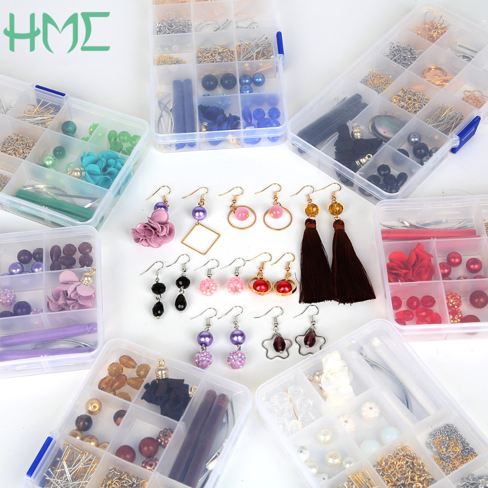 High Quality 1 Box DIY Beads Kits Sets Multi Colors Metal Earring Hooks & Clasps, For DIY Fashion Earring Jewelry Findings-in Jewelry Findings & Components from Jewelry & Accessories on Aliexpress.com | Alibaba Group