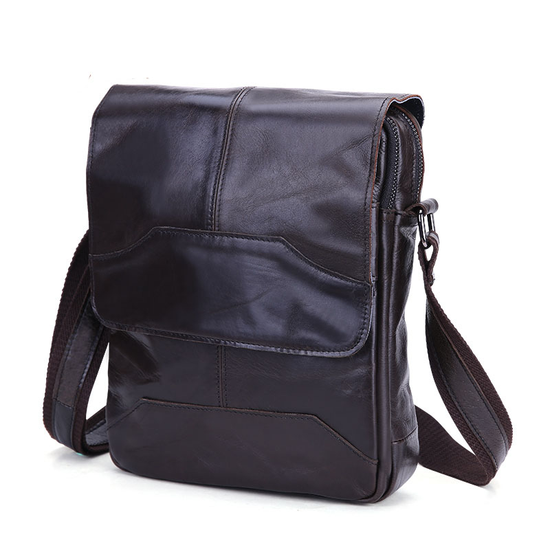 COMFORSKIN الفاخرة البقر عبر الجسم حقيبة 2018 القادمون الجدد حار العلامة التجارية خمر الرجال حقيبة ساع جودة عالية جلد طبيعي أكياس-في حقائب كروسبودي من حقائب وأمتعة على  مجموعة 3