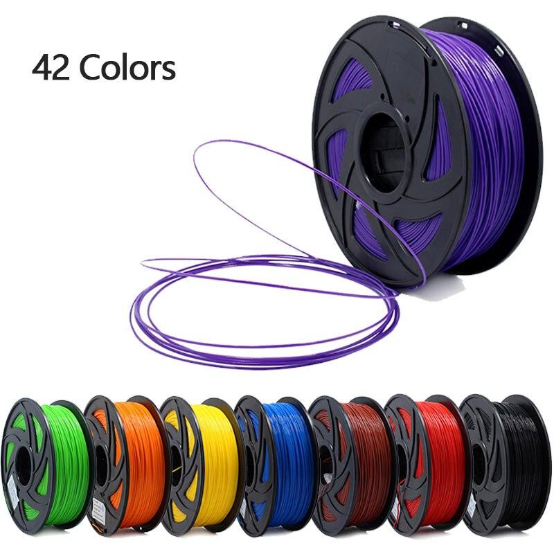 3D impresora 1 KG 1,75mm PLA filamento de materiales de impresión colorido para 3D impresora extrusora pluma Arco Iris accesorios de plástico rojo gris