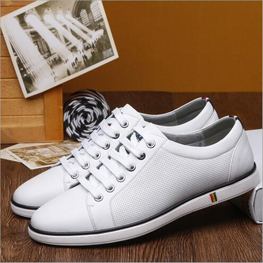 shoes men  2016 New England men's fashion leather shoes casual men's shoes breathable comfortable high-end small white shoes