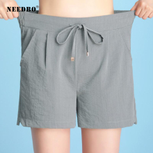 NEEDBO Shorts Women Sexy Office Ladies Summer For Wide Leg Loose Elastic High Waist Casual Plus Size