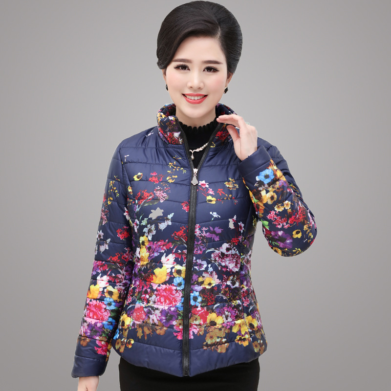 Mothers loaded cotton short section in old winter feather cotton jacket thin coat Slim middle ladies cotton jacket challenges facing teen mothers in secondary schools in kenya