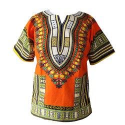 2016 XXXL más el tamaño de la Moda Africana Dashiki diseño Floral vestido africano estampado tradicional Dashiki vestido para hombres y mujeres