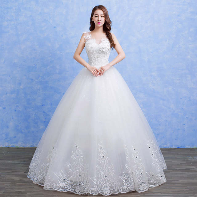 70891996d87 placeholder It s Yiiya Vestidos De Novia Lace White O-neck Princess Wedding  Dresses Transparent Sleeveless Bridal