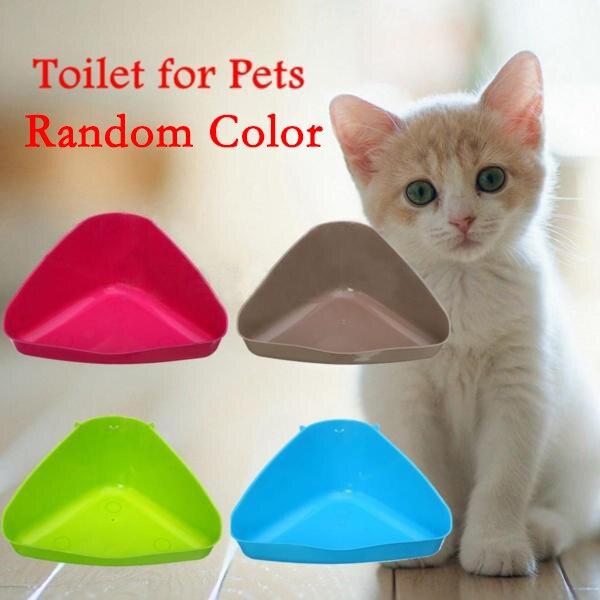 Наполнитель для туалета домашних животных лоток коробка для кошки мышь крыса Кролик Хомяк маленькие животные пластиковые чистые питомец кошка собака поставка 36 см цвет случайный