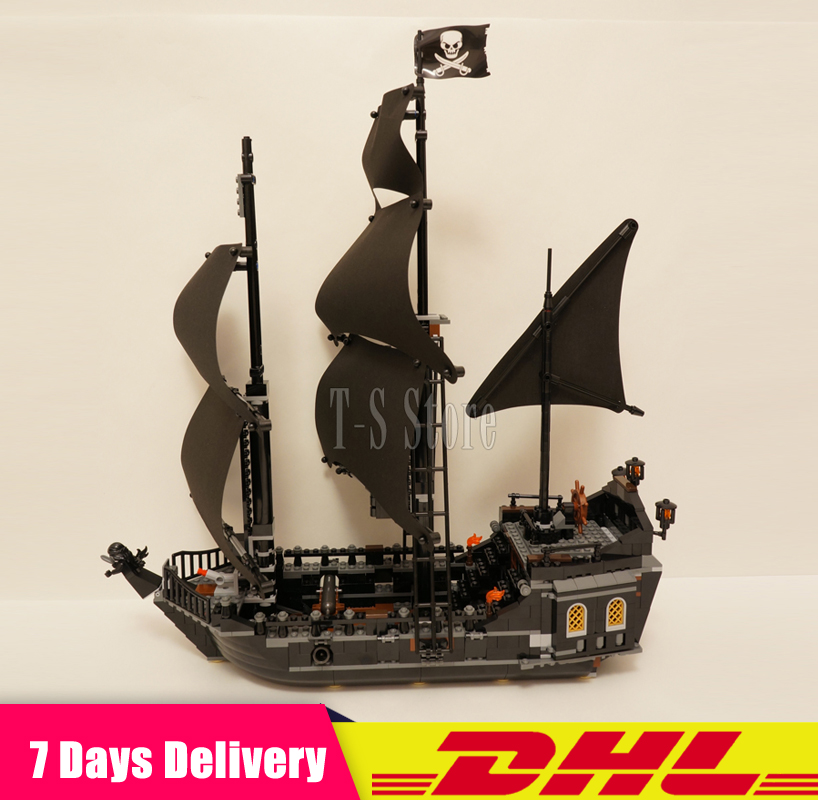 IN Stock DHL LEPIN 16006 804pcs Pirates of the Caribbean the Black Pearl Ship Model Building Blocks Bricks Figures Set Gift Toys lepin 16009 caribbean blackbeard queen anne s revenge mini bricks set sale pirates of the building blocks toys for kids gift