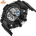 30m Waterproof Men Watch HOSKA Fashion LED Sport Military Watches Shock Men's Analog Quartz Digital Watch relogio masculino