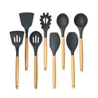 Kitchen Cooking Utensils Set of 8 Pieces Premium Heat Resistant Baking Tools Spatula soup spoon kitchenware A1