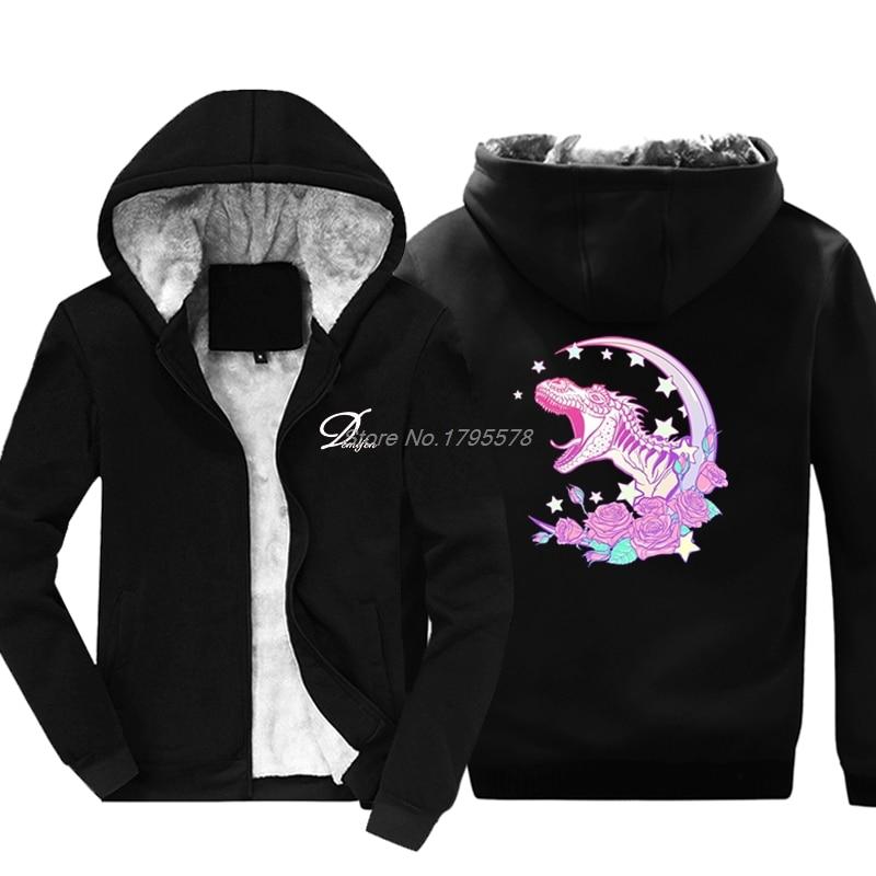 Pastel Goth Trex Sweatshirt Vaporwave Aesthetic Winter New Brand Hip Hop Men Hoodies Casual Fitness Cotton Tops Jackets sweatshirt