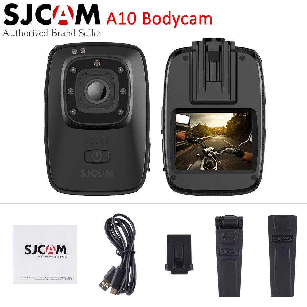 SJCAM A10 Portable Corps Caméra Portable Infrarouge Sport Caméra Ir-cut Night Vision Laser Positionnement D'action Caméra Longue Puissance