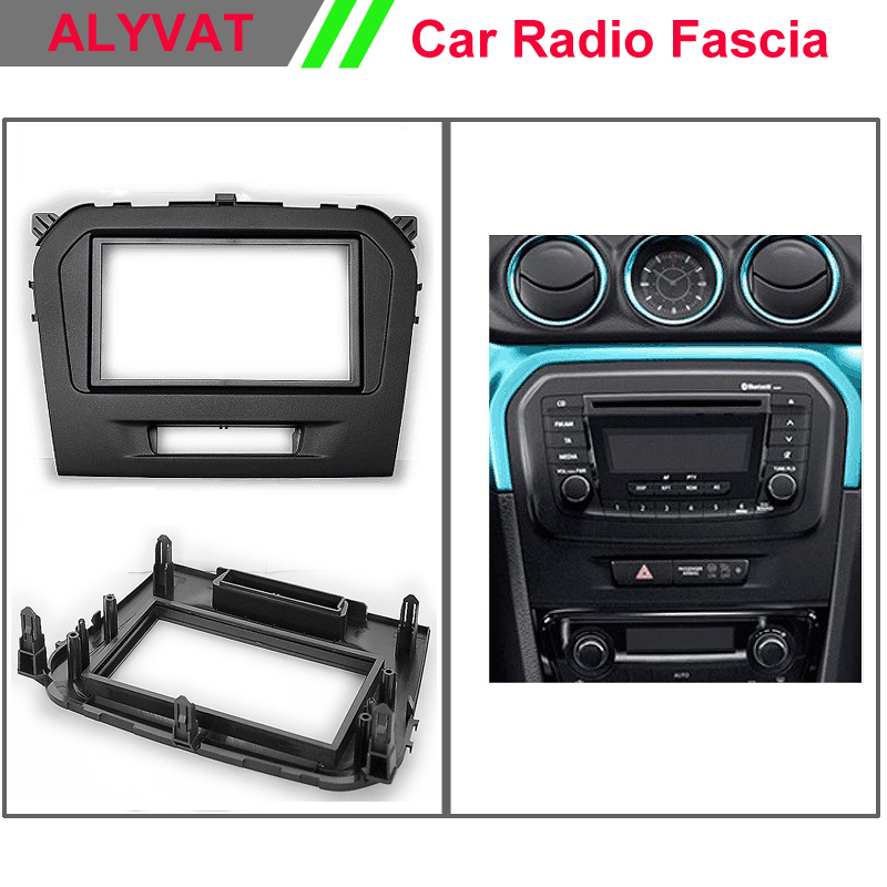 Car CD DVD GPS Radio stereo face facia surround trim Kit for SUZUKI Vitara 2015 Stereo