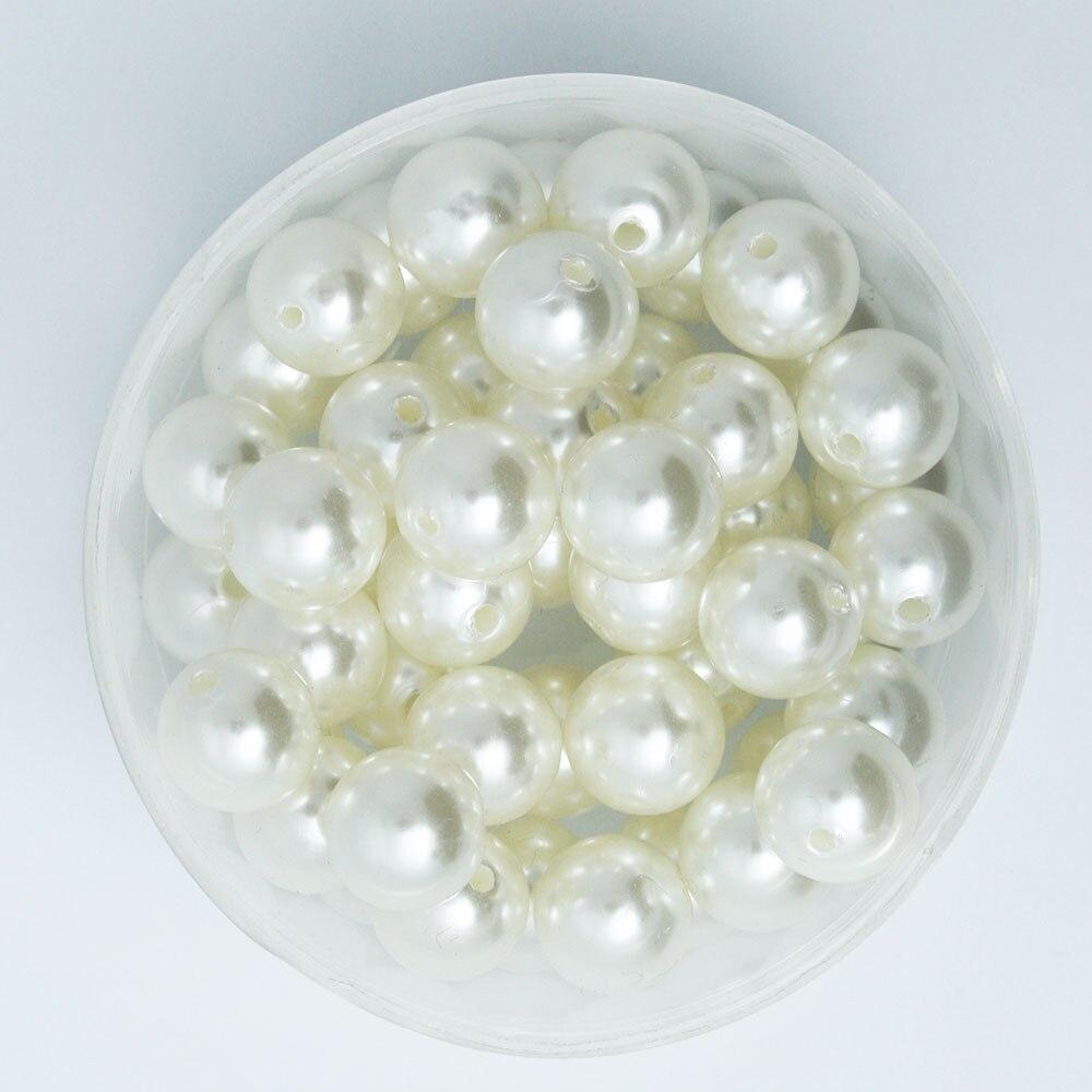 Низкая цена! 4-мм 20 мм белый слоновая кость АБС имитация жемчуга бусины Круглые Пластиковые свободные бусины для браслета ожерелье ювелирные изделия Сделай Сам