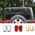 New Arrivals Liftgate Rear Door Window Glass Hinge Covers Exterior Chrome/Gold/Red ABS For Jeep Wrangler 07 Up 3 Colors