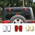 Os Recém-chegados Liftgate Traseira Tampas Da Dobradiça Porta De Vidro De Janela Exterior Chrome/Ouro/Vermelho ABS Para Jeep Wrangler 07 até 3 Cores