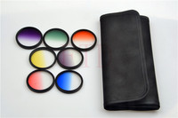7in1 52mm Rotating Gradual grey green orange yellow red blue purple Grad color Lens Filter Kit for sony Canon nikon pentax lens