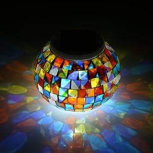 Image 1 - צבע שינוי שמש מופעל זכוכית כדור גן אור חיצוני דקורטיבי שולחן אורות קמפינג ציוד רב כלי חיצוני