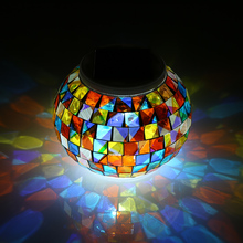 Bola de cristal alimentada por energía Solar que cambia de Color, luz de jardín, luces de mesa decorativas para exteriores, equipo de Camping, herramientas múltiples para exteriores