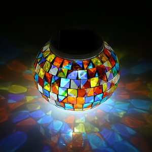 Image 1 - Color Changing Solar Powered Glass Ball Garden Light Outdoor Decorative Table Lights Camping Equipment Multi Tool Outdoor Tools