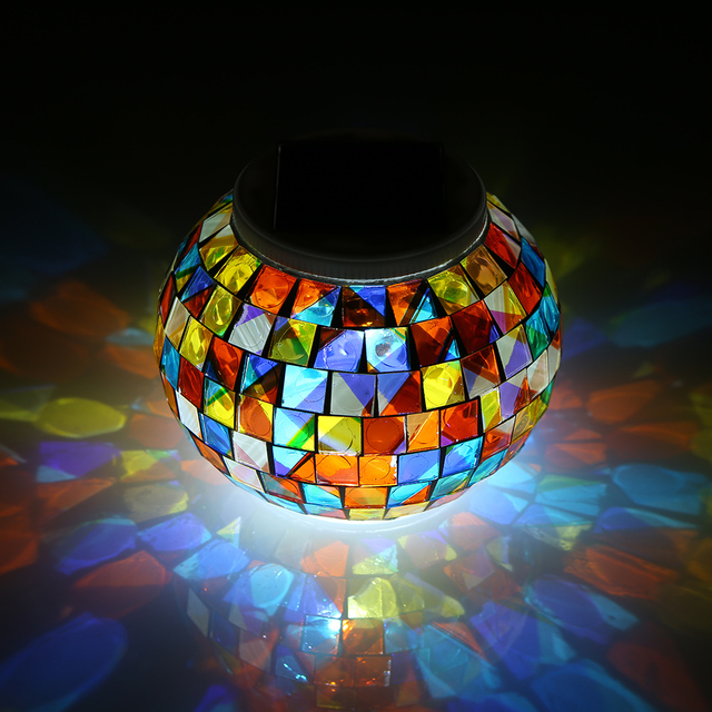 Color Changing Solar Powered Glass Ball Garden Light Outdoor Decorative Table Lights Camping Equipment Multi Tool Outdoor Tools