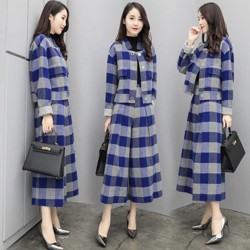 Detail Feedback Questions about Trendy Sets Of Clothes For Women Conjunto  Feminino Plaid Two Piece Set Ensemble Femme Survetement Year old Female  Costume on ... 21aefda96f4f