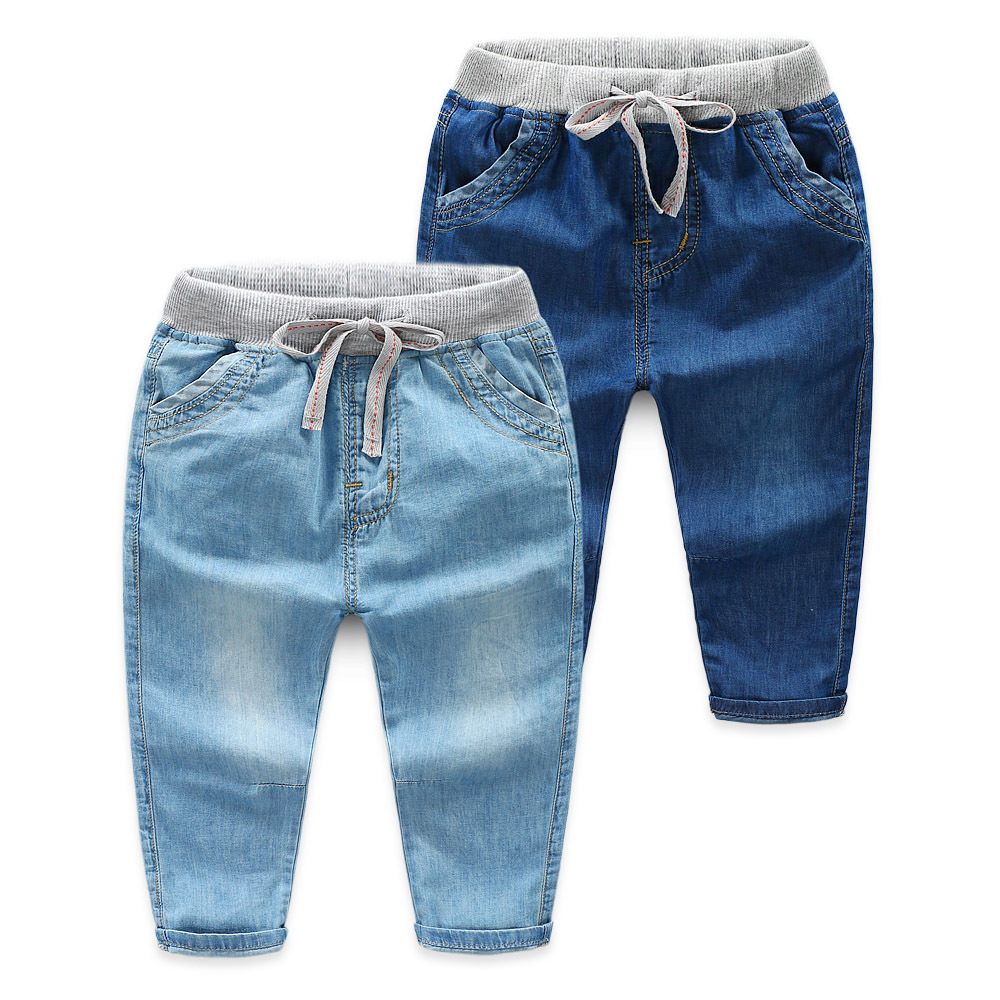Boys Jeans Pants Trousers Children Denim Fashion Cotton Casual  title=