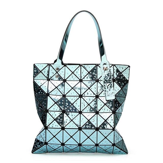 a44de6daf924 New Raindrop Folded Women Bags Geometric Plaid Luxury Handbags Famous Laser  Bags Designer Large Tote Bag