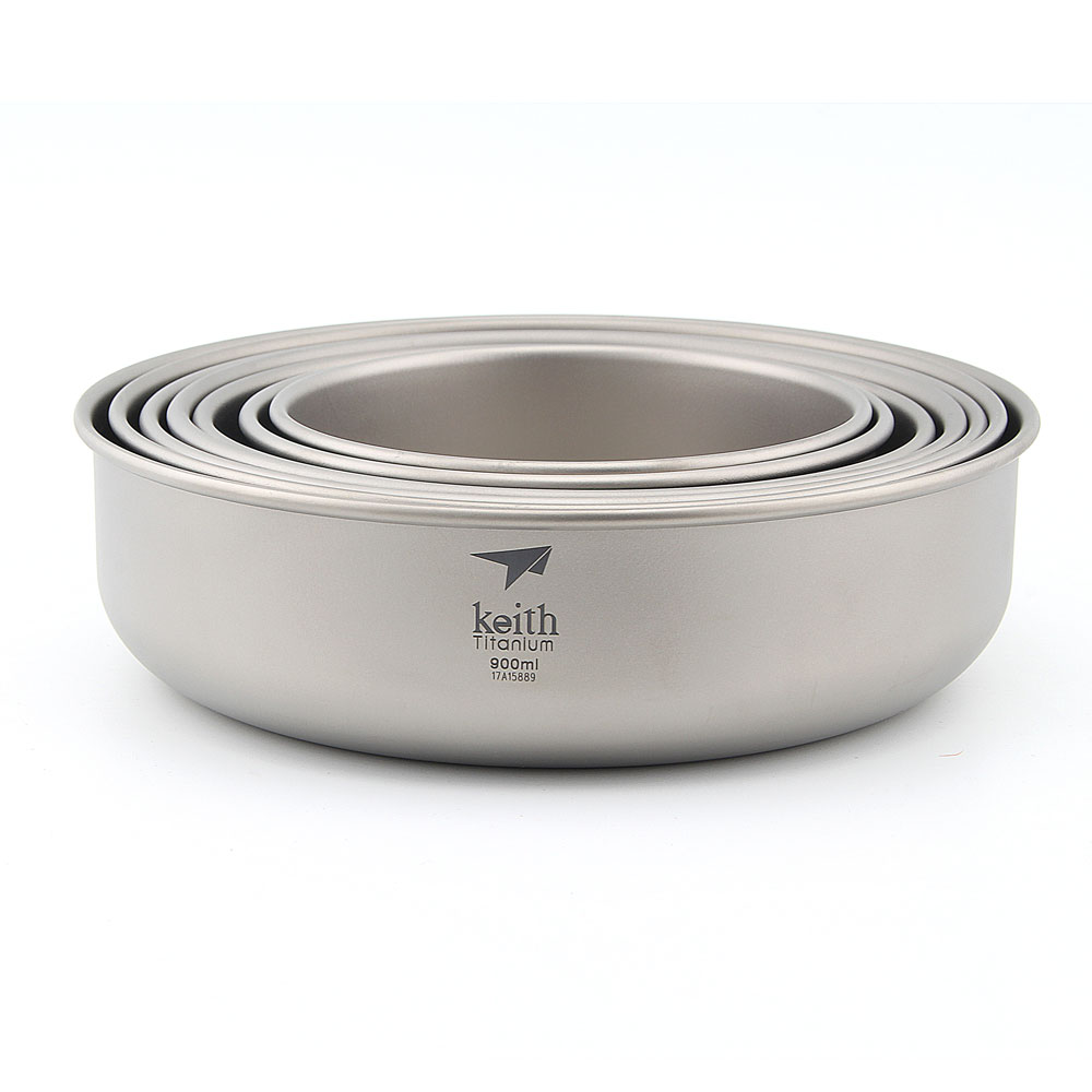 Keith Ti5375 un ensemble 7 pièces titane bol extérieur Camping vaisselle