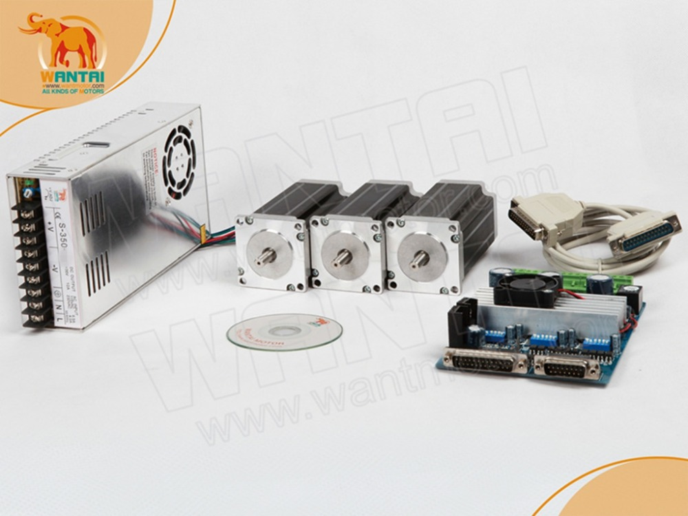 Russia free ship!Wantai 3Axis Nema23 Stepper Motor 57BYGH627 270oz-in 4 leads+3 Axis Driver Board TB6560 CNC Router Milling  цена и фото