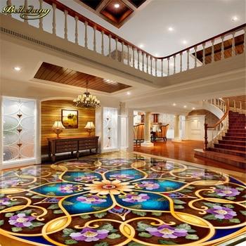 beibehang Custom European Victoria Photo Floor Wall paper 3D Mural PVC Self-adhesive Waterproof Floor wallpaper for walls 3 d цена 2017