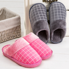 Fashion Hot Sales Winter Male And Female Couple Cotton Slippers Warm-slip Heavy-bottomed Slippers Indoor Slippers Home Slippers