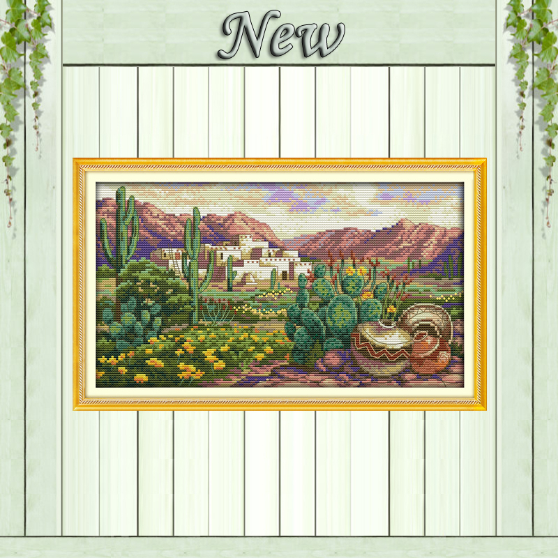 Summer Winter Four Scenic Landscape Embroidery Set Fall A Season for Everything Spring Joyautum Newest 14ct Counted Cross Stitch