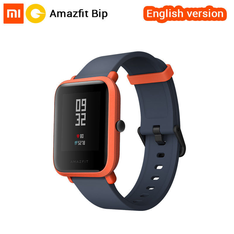 Xiaomi Huami Amazfit Bip Smart Watch [English Version] Sports watch Pace Lite Bluetooth 4.0 GPS Heart Rate 45 Days Battery IP68 english version original xiaomi huami amazfit youth smart watch bip bit face gps fitness tacker heart rate baro ip68 waterproof