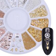 Dia dos namorados cor misturada arte do prego strass conjunto cristais brilhantes prego glitter grânulos 3d decorações da arte do prego acessórios do prego