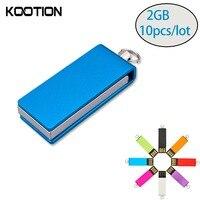 10pcs Lot External Memory USB 2 0 Flash Drive 2GB Pendrive Mini Flash Disk Memory Stick