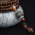 Evadir la paz de moda esmaltado étnico Tibetano buda collar vintage joyas de Nepal, sanwood hecha a mano collar de turquesa de la vendimia