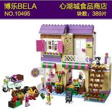 2016 Bela 10495 389 stücke Freunde Stadt Lebensmittel Markt Bausteine Mia Maya Minifiguren Ziegel Spielzeug Freund Mädchen 41108 geschenk neue