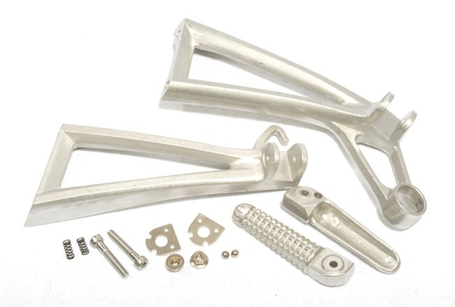Rear Passenger Foot Pegs Footrest Bracket For Yamaha YZF R6 R6S 2003-2005 Silver 2004