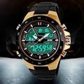 50 М Водонепроницаемый Мужские Спортивные Часы Relógio Masculino 2016 Горячие Мужчины Силиконовые Спортивные Часы Reloj С Ударопрочный Электронные Наручные Часы