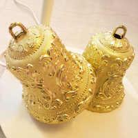 30pcs/10pcs/5pcs/2pcs 10cm 7cm 5cm 3cm New Plastic Christmas Tree Ornaments Christmas Bells Decorations Party Pendant Decor
