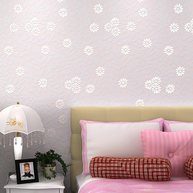 ФОТО 2014 Korean flower garden living room bedroom backdrop simple non-woven wallpaper
