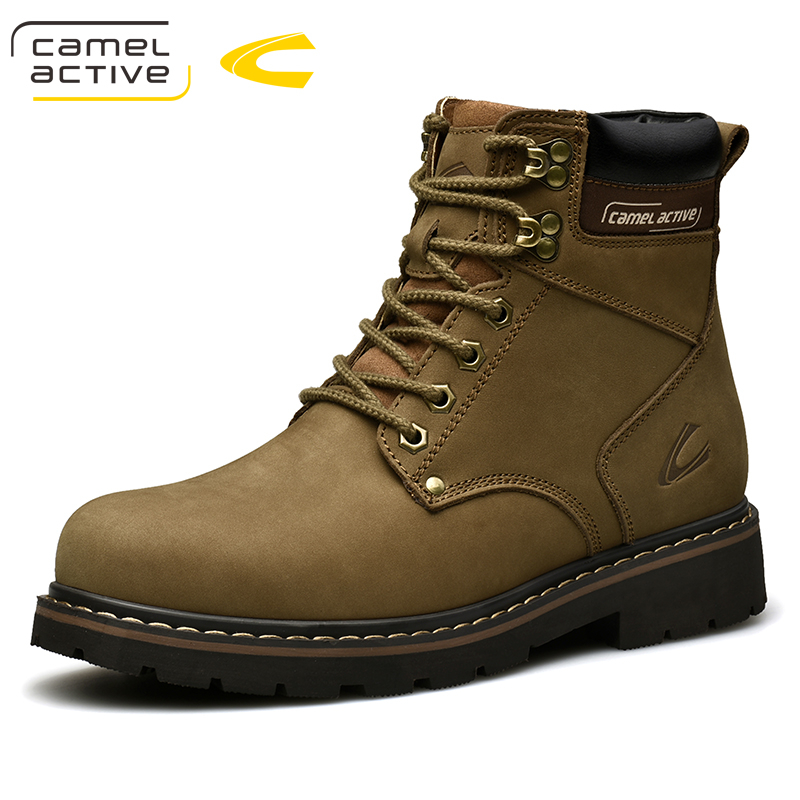 Camel Active New High Quality Ankle Boots For Men Shoes Outdoor Casual Riding Equestrian Boots Zapatos de Hombre Men Boots