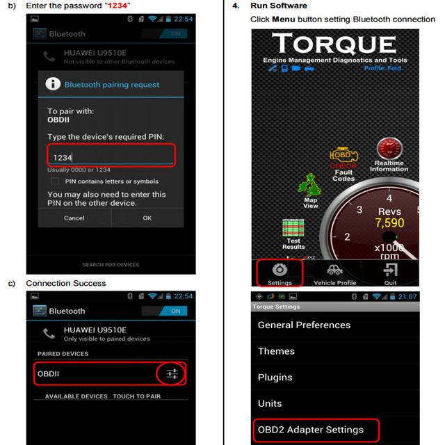 Eml327 V2.1 Bluetooth OBD 2 Car Diagnostic-Tool Support 7 OBDII Protocols Smart Scan Tool ODB2 Scanner Tool No suitable For LADA