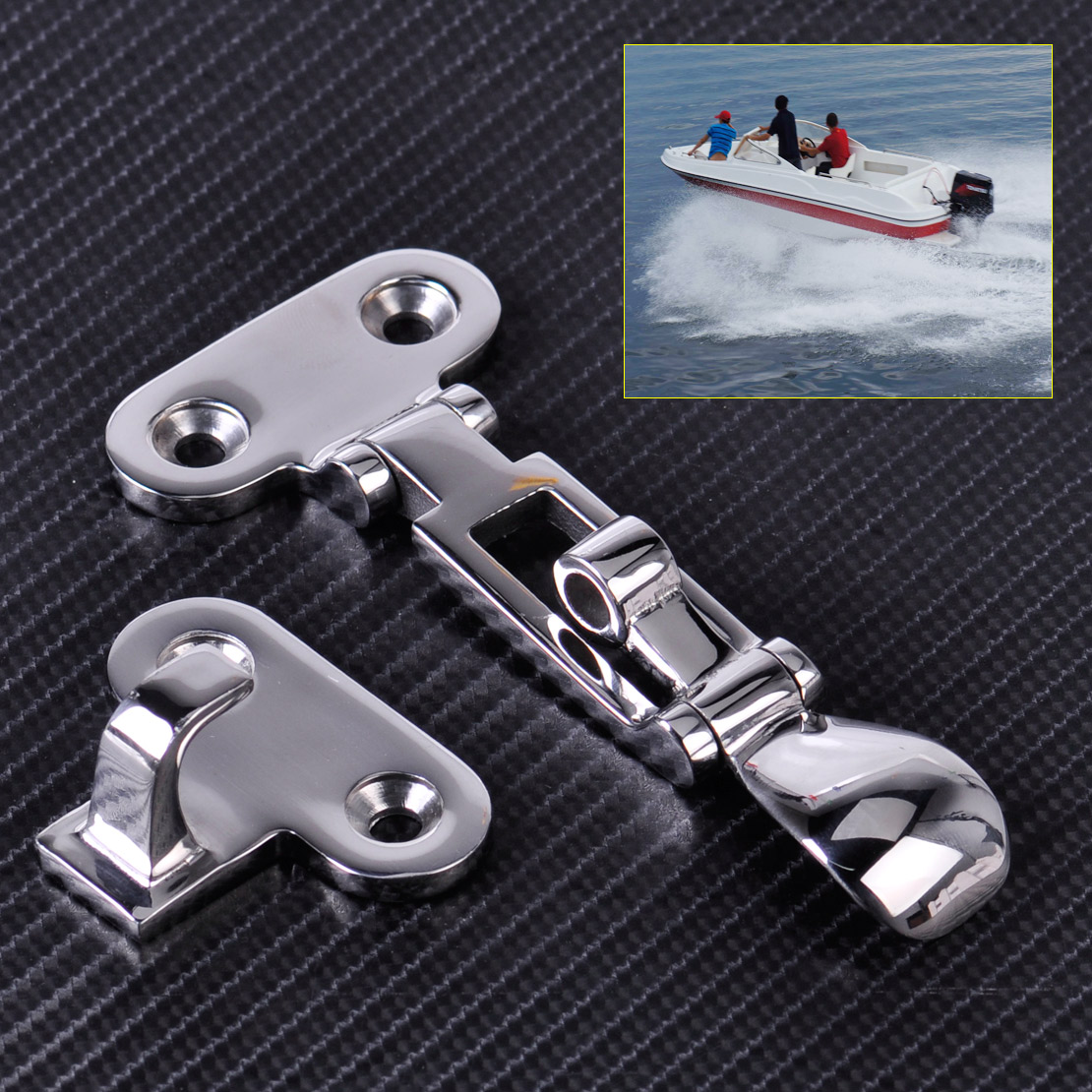 CITALL New Stainless Steel for Boat Marine Hatch Locker Anti-Rattle Latch Fastener Clamp