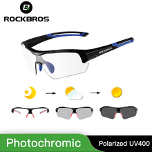 ROCKBROS Photochromic Cycling Sunglasses Polarized Cycling Glasses Outdoor Sports MTB Bicycle Bike Sunglasses Bike Eyewear rockbros discoloration cycling glasses with light mtb mountain bicycle sunglasses oculos masculino gs0004